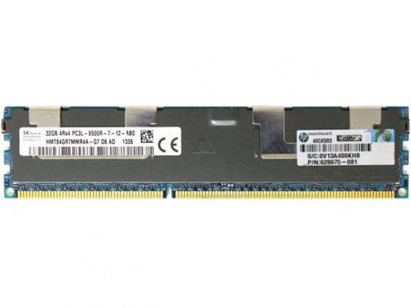 632205-001 Модуль памяти 32Gb HPE 1066MHz PC3L-8500R-9 DDR3 quad-rank x4 1.35V RDIMM